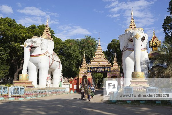 Eingang  Statue  Elefant  Myanmar  Asien  Pagode Eingang ,Statue ,Elefant ,Myanmar ,Asien ,Pagode