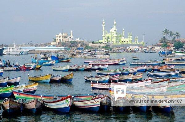 Boot  Hintergrund  angeln  Kerala  Moschee