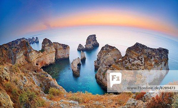 Landschaft  Küste  Sonnenaufgang  Algarve  Lagos  Ponta da Piedade  Portugal