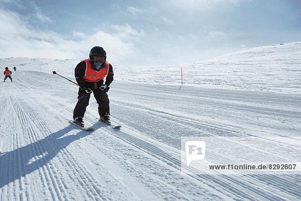 Boy skiing  Hermavan  Sweden