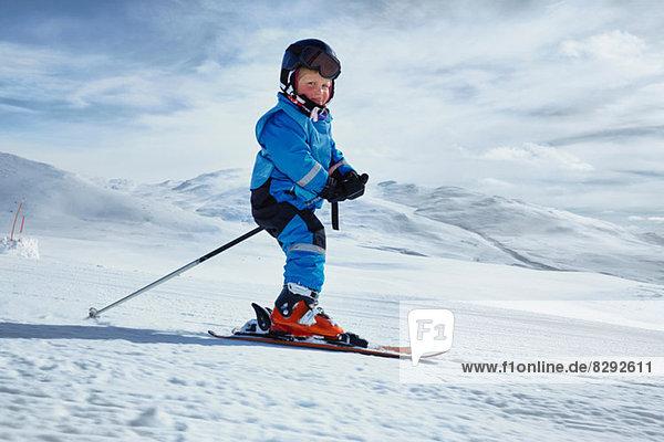 Junge Skifahrer  Hermavan  Schweden