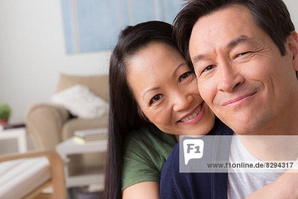 Porträt eines reifen Paares lächelnd