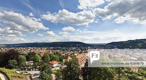 Deutschland  Bayern  Franken  Blick von der Festung Rosenberg auf Kronach
