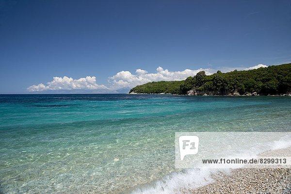 nahe Europa Strand Küste Stadt Insel Neuengland Korfu Griechenland Griechische Inseln Ionische Inseln