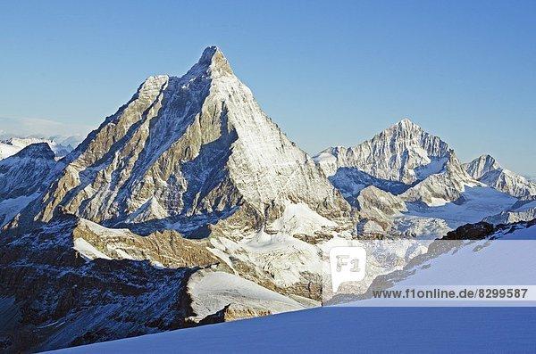 Europa  Westalpen  Schweiz  Zermatt