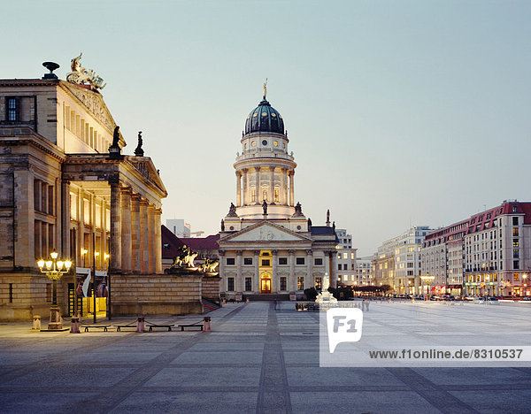 Gendarmenmarkt and French Cathedral  Berlin  Germany