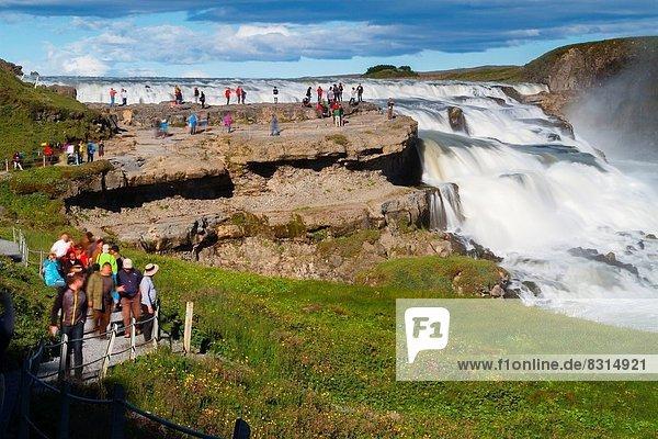 Gullfoss waterfall. Golden Circle. Iceland  Europe.