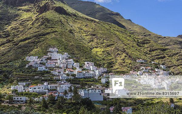 Tal Stadt Agaete Valle