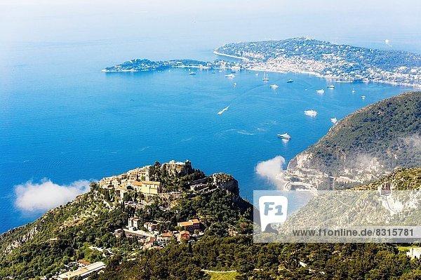 Frankreich Europa Mütze Wahrzeichen Dorf Heiligtum Jeans hocken - Tier Alpes-Maritimes Eze