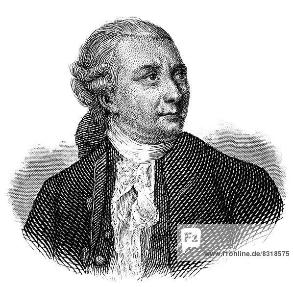 Portrait von Friedrich Gottlieb Klopstock  1724 - 1803  ein deutscher Dichter