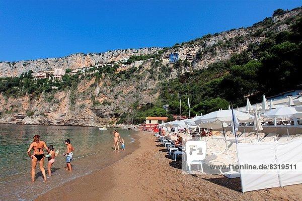 The beach of La Mala in Cap d'Ail  Alpes-Maritimes  French Riviera  PACA  France.