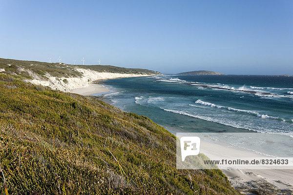 Wind turbines on the coast