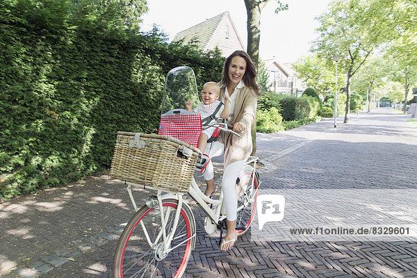 Fahrrad,  Rad , Tochter , Mutter - Mensch , Baby