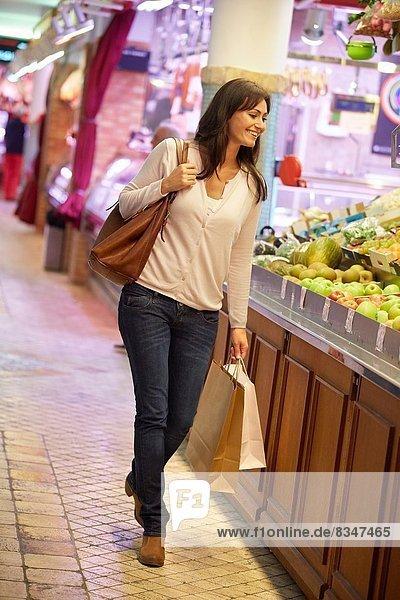 Frau  kaufen  Markt  alt  Spanien  Jahr