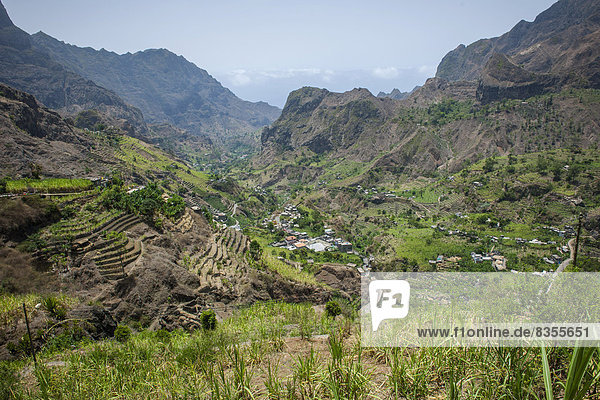 Ausblick ins Paúl-Tal  Insel Santo Antão  Kap Verde