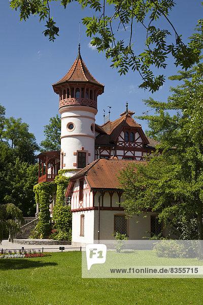 Kurparkschlösschen  Herrsching  Fünfseenland  Oberbayern  Bayern  Deutschland