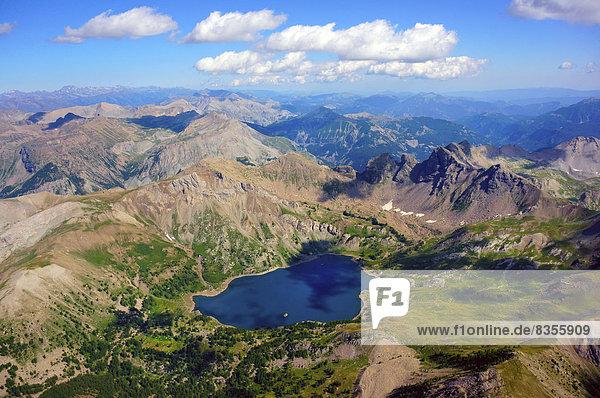 Lac d'Allos mountain lake  Barcelonnette  Département Alpes-de-Haute-Provence  Region Provence-Alpes-Côte d?Azur  France