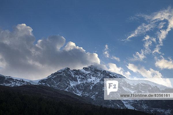 Der Ortler oder Ortles  3905m  Provinz Südtirol  Trentino-Südtirol  Italien