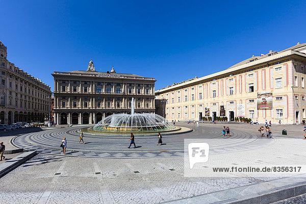 Palast Schloß Schlösser Genua Italien Ligurien