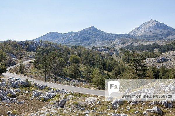 entfernt  Europa  Ansicht  Mausoleum  Montenegro