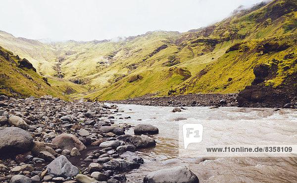 Skoga Fluss und Landschaft in Südisland
