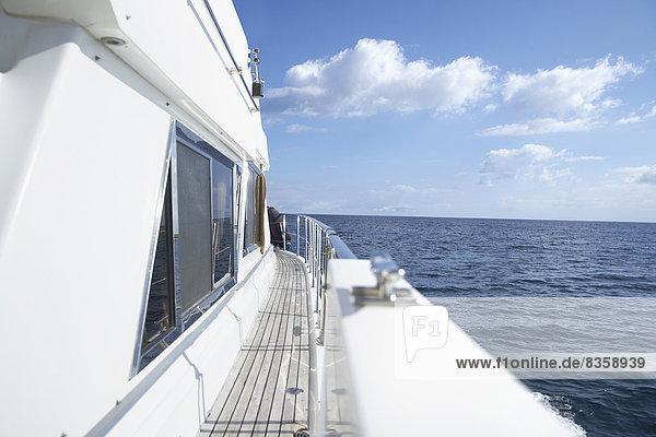 Italy  Sardinia  Planks of yacht deck