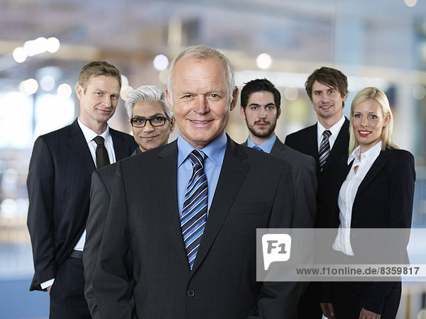 Group of six business partners