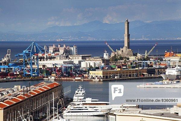 Europa  arbeiten  Erde  Leuchtturm  Genua  Italien  Ligurien