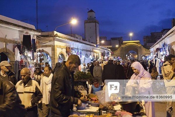 Nordafrika  Nacht  UNESCO-Welterbe  Souk  Afrika  Marokko