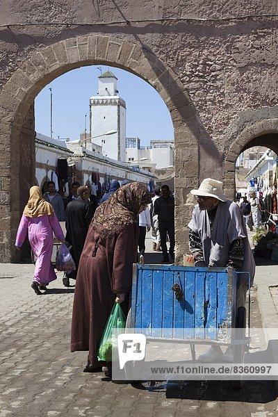 The souk in the Medina  UNESCO World Heritage Site  Essaouira  Atlantic coast  Morocco  North Africa  Africa