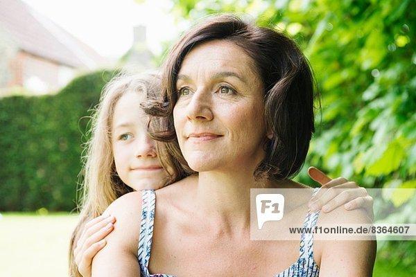 Portrait von Mutter und Tochter