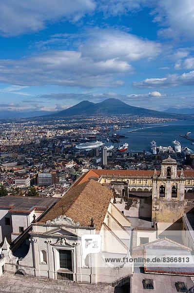Stadtansicht Stadtansichten Italien Neapel
