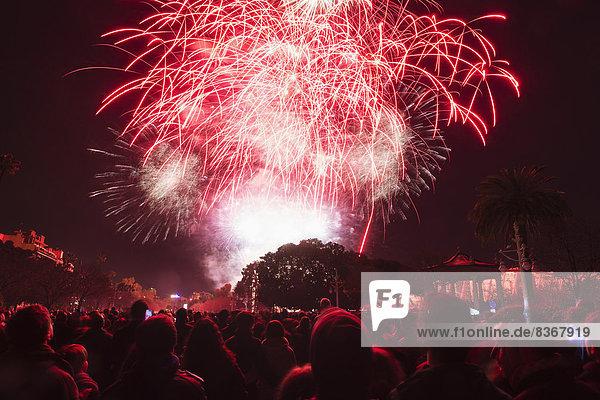 Mensch  sehen  Menschen  Festival  Feuerwerk  Spanien