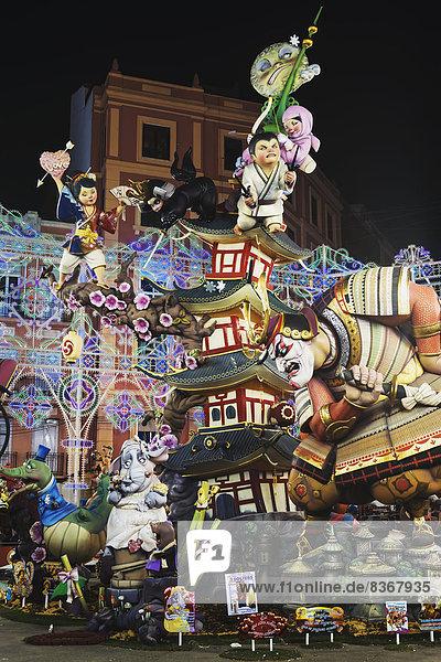 Skulptur  Krieger  Festival  japanisch  Spanien
