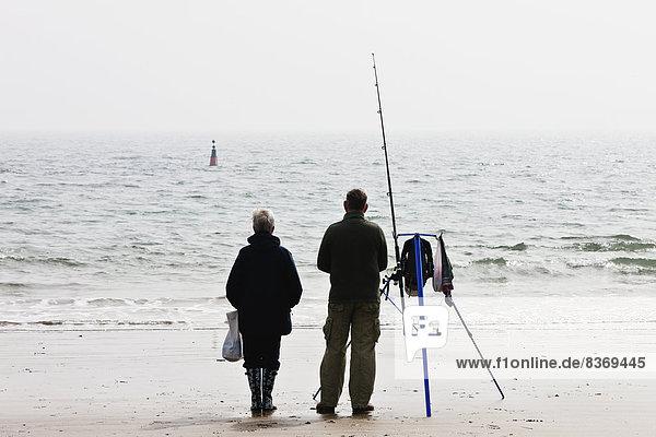 Strand  Großbritannien  Weg  Küste  Fischer  vorwärts  Süden  Wales