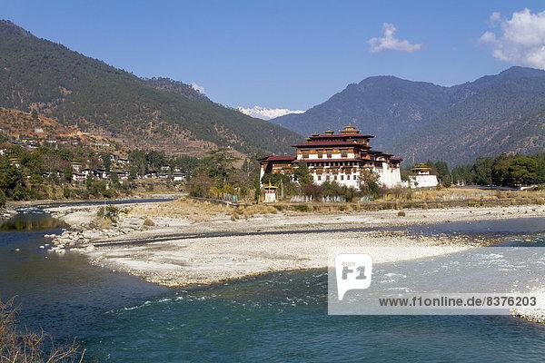 Fluss  Bhutan  Punakha