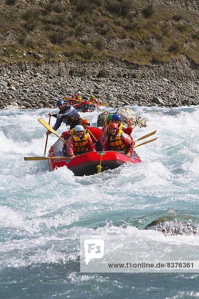 Fluss  Schlucht  Neuseeland  Rafting