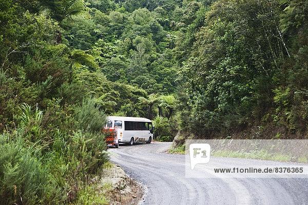 Reise  Fernverkehrsstraße  Insel  Omnibus  Bucht  Neuseeland