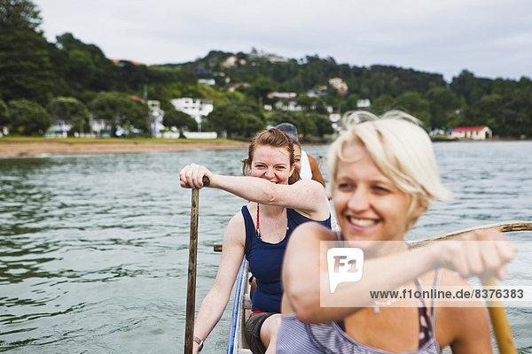 Insel paddeln Bucht Neuseeland