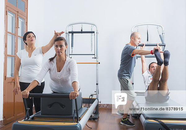 Fitness Trainers With Clients Tarifa  Cadiz  Andalusia  Spain