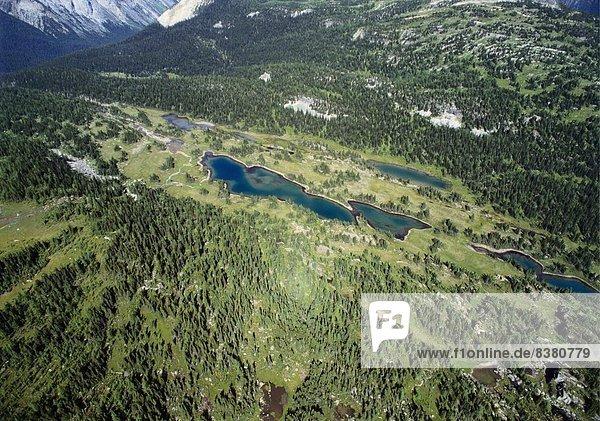 Ansicht  Erhöhte Ansicht  Aufsicht  heben  Banff  Kanada