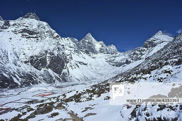hinter  Dorf  Himalaya  UNESCO-Welterbe  Asien  Nepal