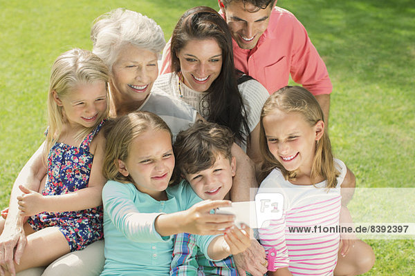 Familienaufnahmen mit dem Handy