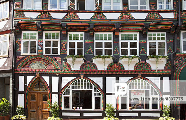 Half-timbered house  Einbeck  Lower Saxony  Germany