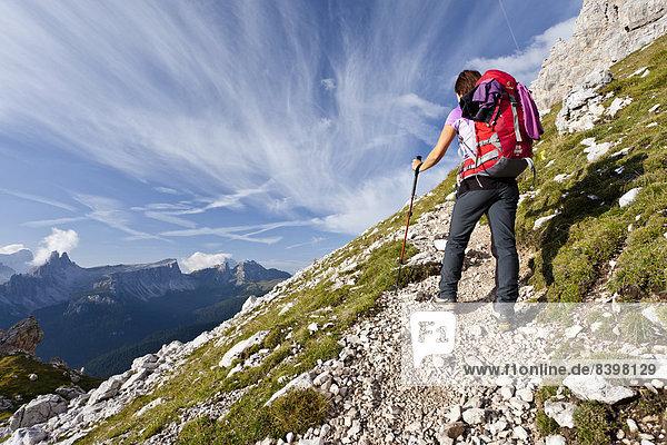 Bergsteiger  Via Ferrata Giuseppe di Olivieri  Dolomiten  Belluno  Italien
