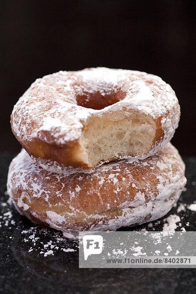 hoch  oben  nahe  Gesichtspuder  Donut