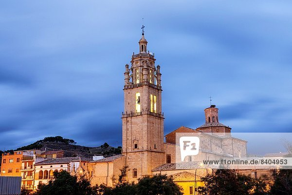St. James way; Church of Santa Maria  Los Arcos  Navarra  Spain.