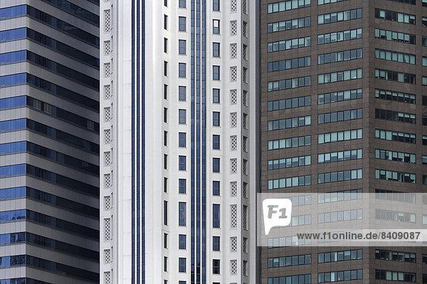 Asien  Singapur  Singapur  Hochhäuser  Bürogebäude im Finanzdistrikt