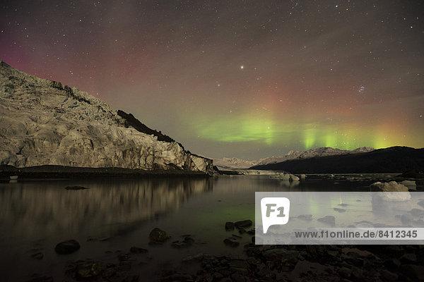 Polarlicht über dem College Fjord  Prinz-William-Sund  Alaska
