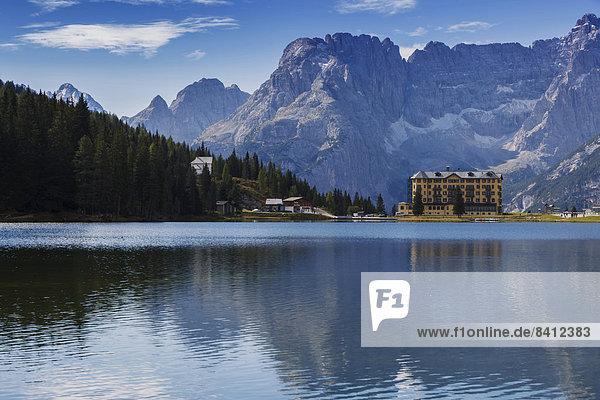 Istituto Pio XII  Misurinasee in den Dolomiten  Misurina-Pass  Provinz Südtirol  Trentino-Südtirol  Italien